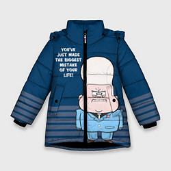 Куртка зимняя для девочки Гидеон Глифул цвета 3D-черный — фото 1