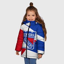 Куртка зимняя для девочки Нью-Йорк Рейнджерс цвета 3D-черный — фото 2