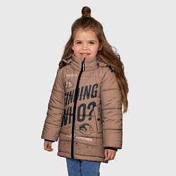 Куртка зимняя для девочки Finding Who? цвета 3D-черный — фото 2