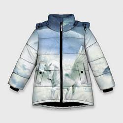 Куртка зимняя для девочки Пегас цвета 3D-черный — фото 1