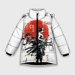 Куртка зимняя для девочки ONE PIECE ZOHO SAMURAI цвета 3D-черный — фото 1