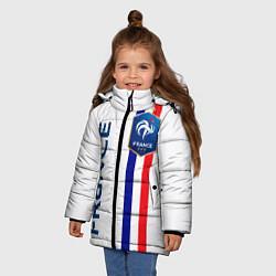 Куртка зимняя для девочки СБОРНАЯ ФРАНЦИЯ цвета 3D-черный — фото 2