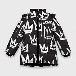 Куртка зимняя для девочки Jony цвета 3D-черный — фото 1