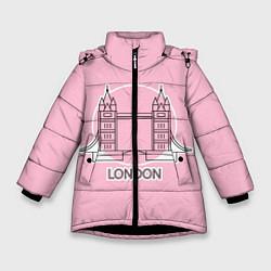 Куртка зимняя для девочки Лондон London Tower bridge цвета 3D-черный — фото 1