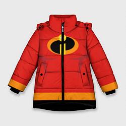 Куртка зимняя для девочки Суперсемейка м цвета 3D-черный — фото 1