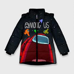 Куртка зимняя для девочки AMONG US цвета 3D-черный — фото 1