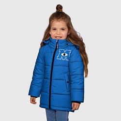Куртка зимняя для девочки Университет Монстров цвета 3D-черный — фото 2