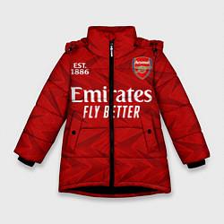 Куртка зимняя для девочки ARSENAL 2021 - ДОМАШНЯЯ цвета 3D-черный — фото 1