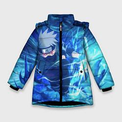 Куртка зимняя для девочки Какаши Наруто цвета 3D-черный — фото 1