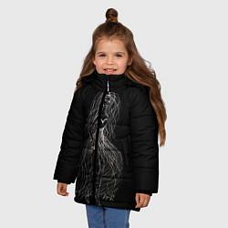 Куртка зимняя для девочки Девушка - призрак цвета 3D-черный — фото 2