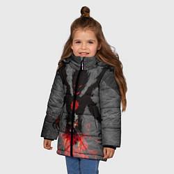Куртка зимняя для девочки Черный клевер цвета 3D-черный — фото 2