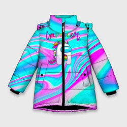 Куртка зимняя для девочки Impostor Unicorn цвета 3D-черный — фото 1