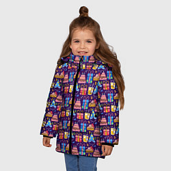 Куртка зимняя для девочки День рождения цвета 3D-черный — фото 2