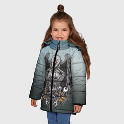 Куртка зимняя для девочки Master цвета 3D-черный — фото 2