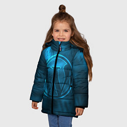 Куртка зимняя для девочки Вордпресс цвета 3D-черный — фото 2