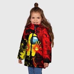 Куртка зимняя для девочки Маг огня Among us цвета 3D-черный — фото 2
