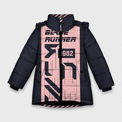 Куртка зимняя для девочки Бегущий по лезвию 1982 цвета 3D-черный — фото 1