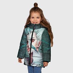 Куртка зимняя для девочки Доктор Стоун цвета 3D-черный — фото 2