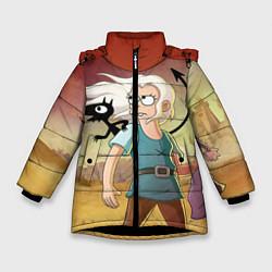 Куртка зимняя для девочки Разочарование цвета 3D-черный — фото 1