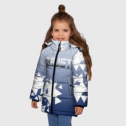 Куртка зимняя для девочки RUST РАСТ цвета 3D-черный — фото 2