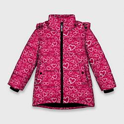 Куртка зимняя для девочки Love цвета 3D-черный — фото 1