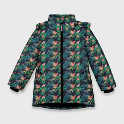 Куртка зимняя для девочки Прекрасный Ара цвета 3D-черный — фото 1