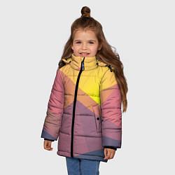 Куртка зимняя для девочки Векторный Египед цвета 3D-черный — фото 2