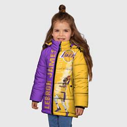 Куртка зимняя для девочки Леброн NBA цвета 3D-черный — фото 2