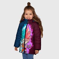 Куртка зимняя для девочки Vegeta power цвета 3D-черный — фото 2