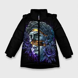 Куртка зимняя для девочки David Skull цвета 3D-черный — фото 1