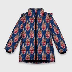 Куртка зимняя для девочки Poker цвета 3D-черный — фото 1