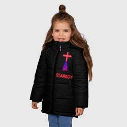 Куртка зимняя для девочки STARBOY - The Weeknd цвета 3D-черный — фото 2