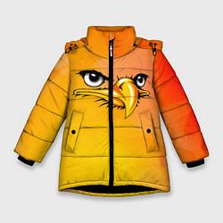 Куртка зимняя для девочки Орёл 3d цвета 3D-черный — фото 1