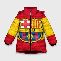 Детская зимняя куртка для девочки с принтом Barcelona, цвет: 3D-черный, артикул: 10063905206065 — фото 1