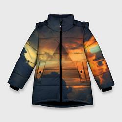 Детская зимняя куртка для девочки с принтом 30 seconds to mars, цвет: 3D-черный, артикул: 10063910606065 — фото 1