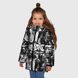 Куртка зимняя для девочки The Prodigy цвета 3D-черный — фото 2