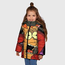 Куртка зимняя для девочки Frai Horrified цвета 3D-черный — фото 2