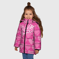 Куртка зимняя для девочки Barbie цвета 3D-черный — фото 2