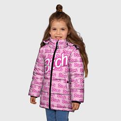 Куртка зимняя для девочки Bitch Barbie цвета 3D-черный — фото 2