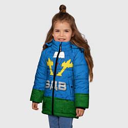 Куртка зимняя для девочки Флаг ВДВ цвета 3D-черный — фото 2