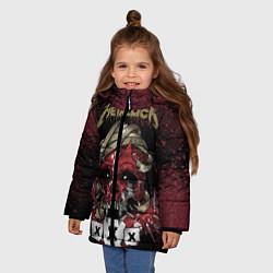 Куртка зимняя для девочки Metallica: XXX цвета 3D-черный — фото 2