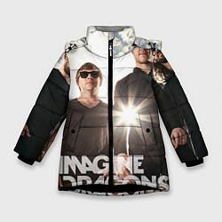 Куртка зимняя для девочки Imagine Dragons цвета 3D-черный — фото 1
