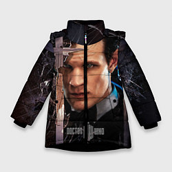 Детская зимняя куртка для девочки с принтом Доктор кто, цвет: 3D-черный, артикул: 10065035006065 — фото 1