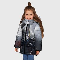 Куртка зимняя для девочки Геральт цвета 3D-черный — фото 2