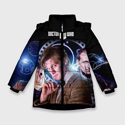 Куртка зимняя для девочки Одиннадцатый Доктор цвета 3D-черный — фото 1