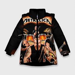 Куртка зимняя для девочки Metallica Band цвета 3D-черный — фото 1