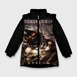 Куртка зимняя для девочки Disturbed цвета 3D-черный — фото 1