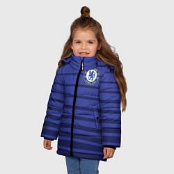 Куртка зимняя для девочки Chelsea: Diego Gosta цвета 3D-черный — фото 2