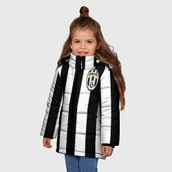 Куртка зимняя для девочки Juventus: Pirlo цвета 3D-черный — фото 2