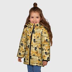 Куртка зимняя для девочки Doge цвета 3D-черный — фото 2